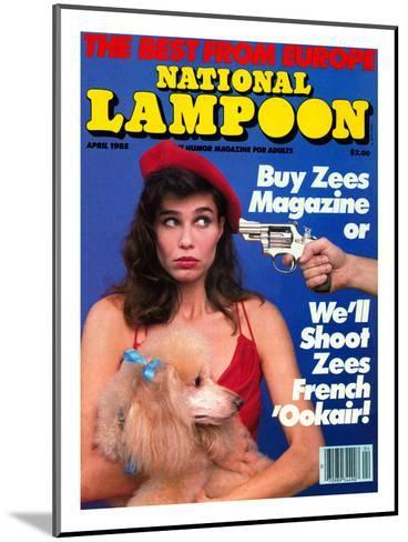 National Lampoon, April 1985 - The Best From Euope--Mounted Art Print