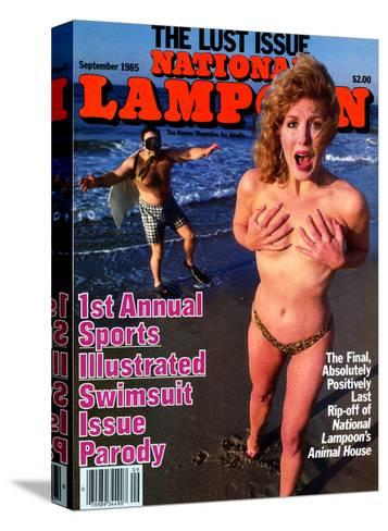 National Lampoon, May 1985 - 1st Annual Sports Illustrated Swimsuit Issue Parody--Stretched Canvas Print