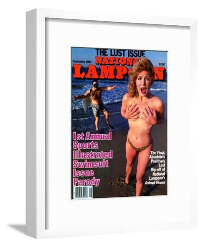 National Lampoon, May 1985 - 1st Annual Sports Illustrated Swimsuit Issue Parody--Framed Art Print