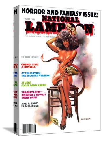 National Lampoon, June 1986 - Horror and Fantasy Issue--Stretched Canvas Print