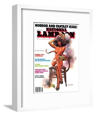 National Lampoon, June 1986 - Horror and Fantasy Issue--Framed Art Print