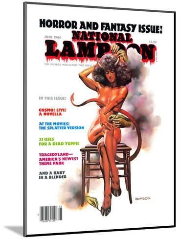 National Lampoon, June 1986 - Horror and Fantasy Issue--Mounted Art Print