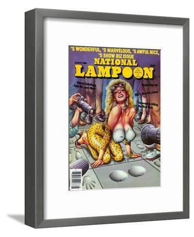 National Lampoon, August 1986 - Show Biz Issue--Framed Art Print