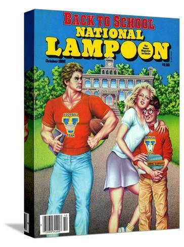 National Lampoon, October 1986 - Back to School--Stretched Canvas Print