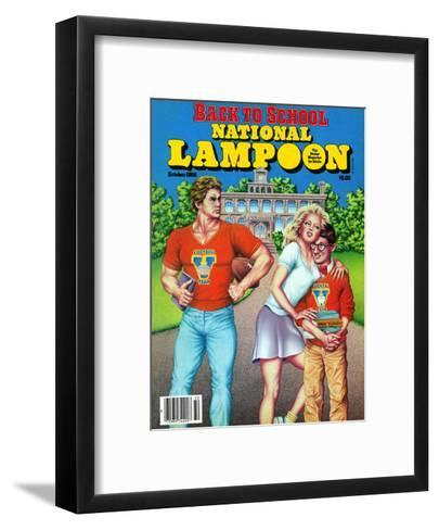 National Lampoon, October 1986 - Back to School--Framed Art Print