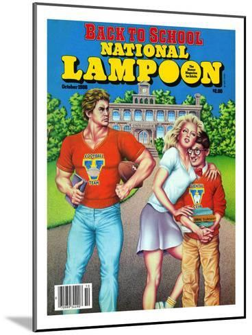National Lampoon, October 1986 - Back to School--Mounted Art Print