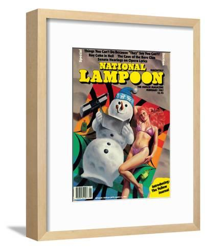 National Lampoon, February 1987 - Things You Can't Do Because They Say You Can't--Framed Art Print