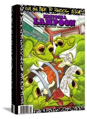 National Lampoon, October 1987 - Back to School Issue, Frogs Dissect Student--Stretched Canvas Print
