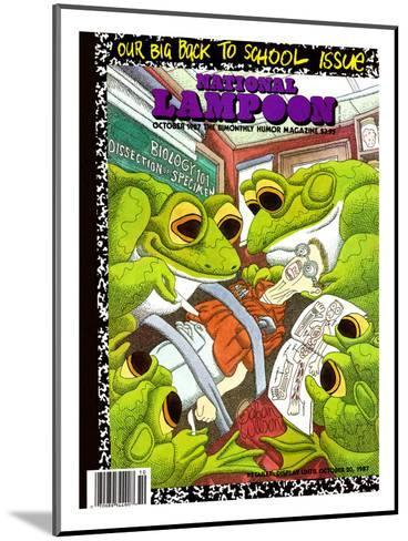 National Lampoon, October 1987 - Back to School Issue, Frogs Dissect Student--Mounted Art Print