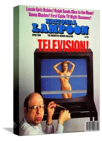 National Lampoon, April 1988 - Television--Stretched Canvas Print