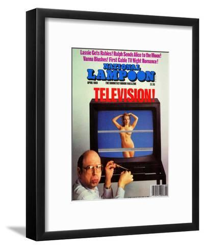 National Lampoon, April 1988 - Television--Framed Art Print