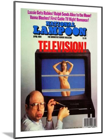 National Lampoon, April 1988 - Television--Mounted Art Print