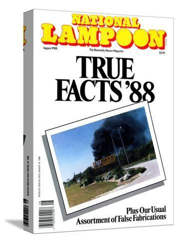National Lampoon, August 1988 - True Facts '88--Stretched Canvas Print