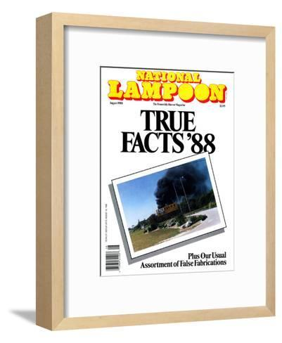 National Lampoon, August 1988 - True Facts '88--Framed Art Print