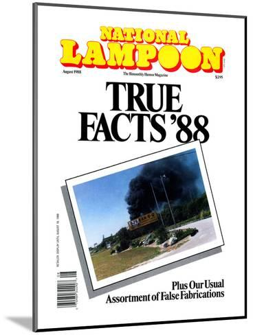 National Lampoon, August 1988 - True Facts '88--Mounted Art Print
