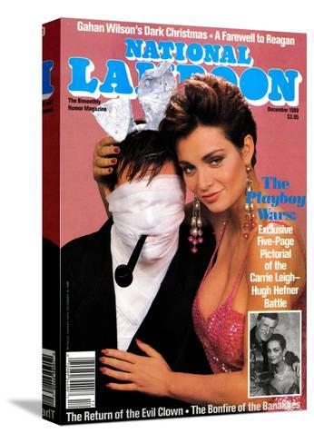 National Lampoon, December 1988 - The Playboy Wars--Stretched Canvas Print