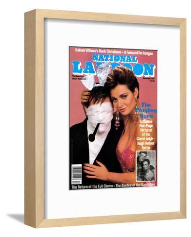 National Lampoon, December 1988 - The Playboy Wars--Framed Art Print