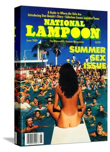 National Lampoon, June 1989 - Summer Sex Issue--Stretched Canvas Print