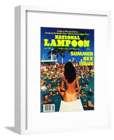 National Lampoon, June 1989 - Summer Sex Issue--Framed Art Print