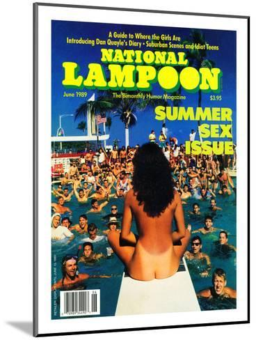 National Lampoon, June 1989 - Summer Sex Issue--Mounted Art Print