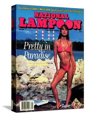 National Lampoon, April 1990 - Pretty in Paradise--Stretched Canvas Print
