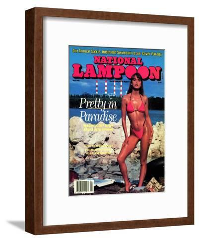 National Lampoon, April 1990 - Pretty in Paradise--Framed Art Print