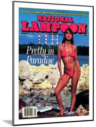National Lampoon, April 1990 - Pretty in Paradise--Mounted Art Print