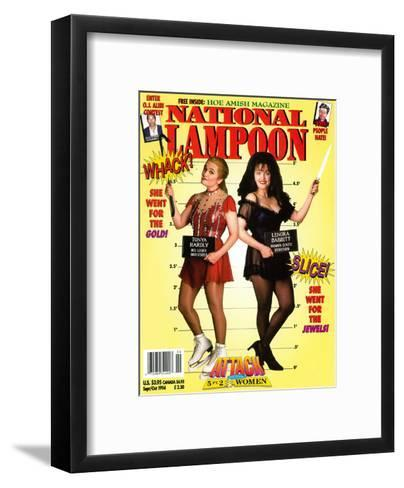 National Lampoon, September and October 1994 - Attack of the 5 ft 2 Women--Framed Art Print