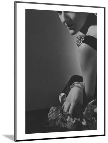 Vogue - February 1935 - The Comtesse de La Falaise in Cartier Jewelery-Horst P. Horst-Mounted Premium Photographic Print