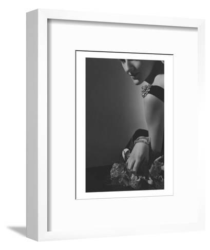 Vogue - February 1935 - The Comtesse de La Falaise in Cartier Jewelery-Horst P. Horst-Framed Art Print