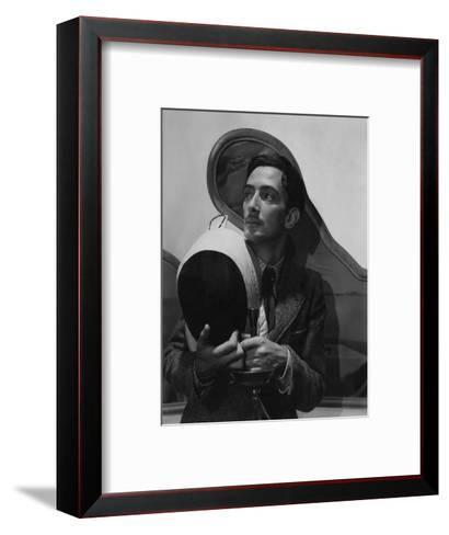 Vogue - November 1936 - Salvador Dali with Fencing Helmet-Cecil Beaton-Framed Art Print