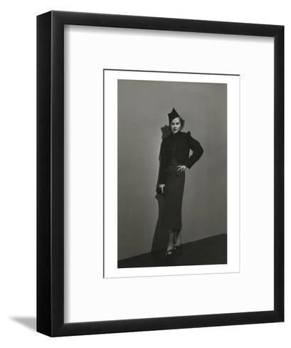 Vogue - December 1936 - Princess Nathalie Paley in Lelong Dress-Andr? Durst-Framed Art Print