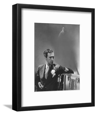 Vogue - June 1941 - Cecil Beaton with Peacock-Lusha Nelson-Framed Art Print