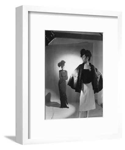 Vogue - October 1944 - Fashions from Bergdorf Goodman-Cecil Beaton-Framed Art Print