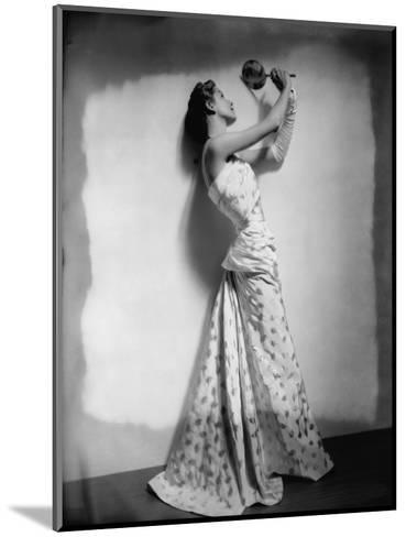 Vogue - April 1948 - Model Gazing in Hand Mirror-Cecil Beaton-Mounted Premium Photographic Print