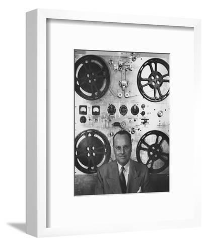 Vogue - February 1952 - Hollywood Sound Equipment Inventor-Howard Jean-Framed Art Print
