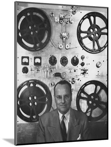 Vogue - February 1952 - Hollywood Sound Equipment Inventor-Howard Jean-Mounted Premium Photographic Print