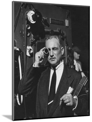 Vogue - February 1952 - Cinematographer on Film Set-Howard Jean-Mounted Premium Photographic Print
