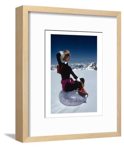 Vogue - November 1968 - Marisa Berenson Atop a Glacier-Arnaud de Rosnay-Framed Art Print