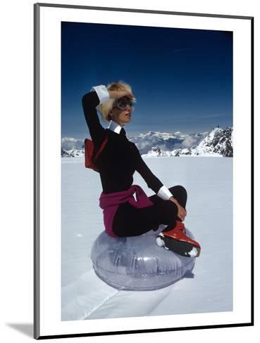 Vogue - November 1968 - Marisa Berenson Atop a Glacier-Arnaud de Rosnay-Mounted Premium Photographic Print