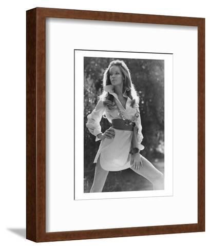 Vogue - January 1969 - Veruschka Wearing Shirtdress-Franco Rubartelli-Framed Art Print