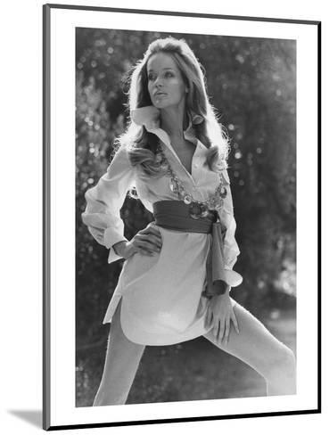 Vogue - January 1969 - Veruschka Wearing Shirtdress-Franco Rubartelli-Mounted Premium Photographic Print