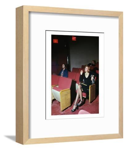Vogue - September 1972 - Woman in Movie Theater-Kourken Pakchanian-Framed Art Print