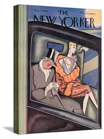 The New Yorker Cover - December 18, 1926-Ottmar Gaul-Stretched Canvas Print