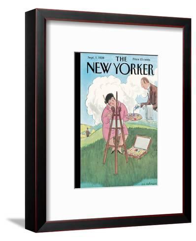 The New Yorker Cover - September 1, 1928-Helen E. Hokinson-Framed Art Print