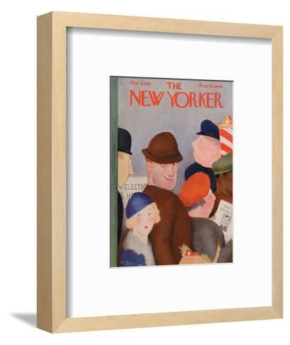 The New Yorker Cover - November 5, 1932-William Cotton-Framed Art Print