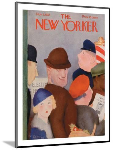 The New Yorker Cover - November 5, 1932-William Cotton-Mounted Premium Giclee Print