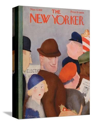 The New Yorker Cover - November 5, 1932-William Cotton-Stretched Canvas Print