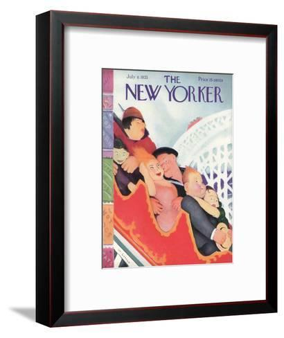 The New Yorker Cover - July 8, 1933-William Cotton-Framed Art Print