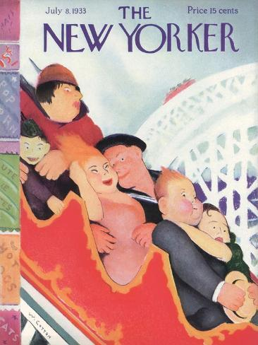 The New Yorker Cover - July 8, 1933-William Cotton-Stretched Canvas Print